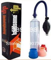 Male Pumps & Enlargers silicone ABS Handsome Up Vacuum Penis Pump Penis Enlargement Developer Enlarger Enhancer Male Erection Sex Toys DHL 100pcs lot