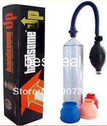 Wholesale Handsome Up Vacuum Penis Pump Penis Enlargement Developer Enlarger Enhancer Male Erection Sex Toys DHL
