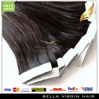 Indian Hair glue in hair extensions - 100g quot quot quot quot Natural Black B Glue Skin Weft Tape in Human Hair Extensions INDIAN REMY Hair Bellahair