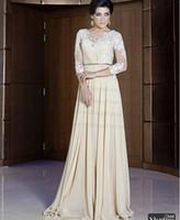 Model Pictures Crew Chiffon 2014 Arabic Kaftan Vestidos de fiesta formales long Sleeve Women Long Party Dresses Abaya Dubai Evening Gowns dhyz03