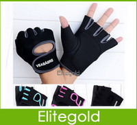 Wholesale 4Colors Half Finger Fitness Gloves Sport And Exercise Gloves New Pair DHL