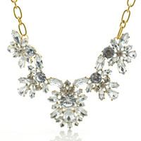 Wholesale New Occident Choker Necklace Zinc Alloy Crystal Alloy Resin Rhinestone Charm Flower Charming Necklace amp Pendants For Women