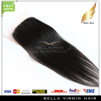 Wholesale 100 Peruvian Virgin Hair Closure Piece Human Hair Lace Closure Weave Silky Straight Top Closures inch
