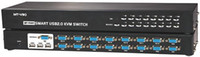 Wholesale 16 Port SMART USB KVM SWITCH Include Cables Multi VGA Switch Controller Rack mountable MT UK CH
