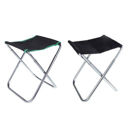 Wholesale Green Black Portable Camping Folding Aluminum Oxford Cloth Chair Outdoor Patio Fishing Camping with Carry Bag H10203