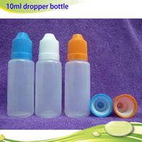 10ml e cigarette liquid - High quality Empty E liquid Bottles ml Dropper bottles for e liquid with Childproof Cap for Essential oil E Cigarette