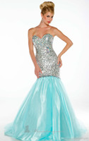 Reference Images Sweetheart Tulle 2014 New Mermaid Prom Gowns Colouful with Sexy Sweetheart Sequins Lace Beading and Crystal Pageant Peach Aqua Sku Tulle Party Dresses 81778