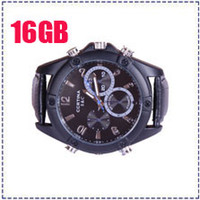 Wholesale V2000 HD P New Spy Watch Camera IR Night Vision Waterproof GB Motion Detection PC Webcam Function Hidden DVR Watch Camcorder