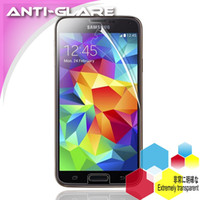 Wholesale Anti glare Screen Protector for Samsung Galaxy S5 Matte Transparent Protective Phone Film for i9600 With Retail Packing