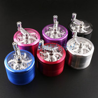pocket parts - Metal Alloy Tobacco Herb Grinder Pocket pc Parts layer HAND CRANK Cigarette Smoking Spice Crusher