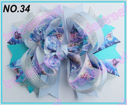 Wholesale fashion frozen hair bows ring hair bows boutique hair bows layered bows
