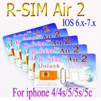 Wholesale New Original RSIM Air Unlock Card IOS x x R Sim RSIM R SIM Air2 air Unlock Iphone S C S Sprint Verizon SMS G G G