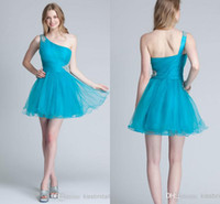 Reference Images Organza One-Shoulder Hunter 2014 cheap A line organza short mini cocktail homecoming dresses one shoulder sexy backless sequins beaded party prom gowns