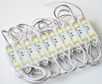 40pcs / lot 2 leds DC12V impermeabilizan la lámpara del pixel del módulo del poder más elevado LED 5050SMD que envía libremente
