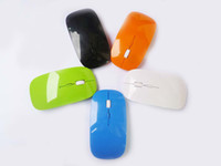 Wholesale 2 GHz Wireless optical mouse Cordless Scroll Computer PC Mice with USB Dongle various color gaming mice m range