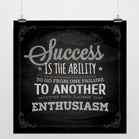 Wholesale Light Art Picture Sayings Enthusiasm Black Original DIY Passion Success Vintage Poster Print Inspirational Wall Quotes Decor Canvas Painting