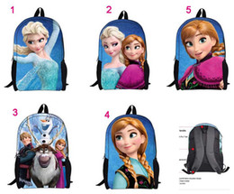 Wholesale 5styles bags Frozen princess children bags student Polyester school bags cartoon Both shoulders backpacks