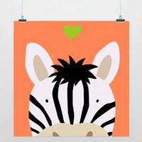 One Panel Digital printing Fashion Light Art Nature Animals Dreams Zebra Colorful Cute Picture Modern Minimalist Poster Prints Custom DIY Gift Kids Wall Decor Canvas Paintings
