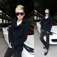 Wholesale party neutral terms less Lest upscale men s hairs too short paragraph Korean version of Slim woolen coat