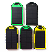 5000 mah Portable solar Power Bank External Emergency Backup...
