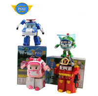 Wholesale 2014 Robocar poli deformation car bubble South Korea Thomas toys set robocar poli