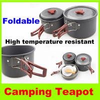 Wholesale Cookware Set for Picnic person High temperature resistant Outdoor camping kettle hiking Kitchen portable picnic cookware set Pot Pan H