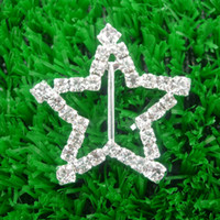 Buttons 32mm Bags,Belts,Garment,Shoes Star Shape crystal Rhinestone Ribbon Buckle Sliders, 32mm