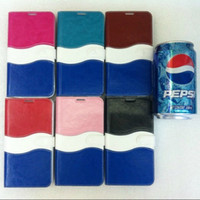 Leather pepsi cola - Pepsi Joy of Cola Case for Samsung Galaxy S5 i9600 Leather Covers Mobile Phone Bags amp Cases New Arrive accessories Free Ship