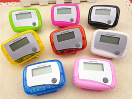 Wholesale New Pocket LCD Pedometer Mini Single Function Pedometer Step Counter LCD Run Step Pedometer Digital Walking Counter with Package
