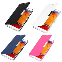 For Samsung Leather White S5Q Flip Magnetic Leather Hard Case Cover For Samsung Galaxy Note 3 III N9000 AAADEN