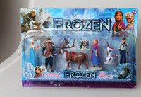 Wholesale hot Frozen Piece PVC action Figure Play Set Anna Elsa Hans Kristoff Sven Olaf kid s gift toy