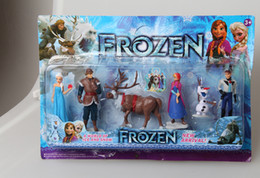 Wholesale hot Frozen Piece PVC action Figure Play Set Anna Elsa Hans Kristoff Sven Olaf kid s gift toy