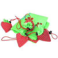 Wholesale Lovely Portable shopping bag Foldable Cute Strawberry Foldable handbags Eco Reusable Shopping Tote Bag K07448
