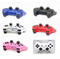 Wholesale White Wireless Bluetooth game controller joystick for ps factory sealed do drop ship