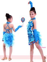 Wholesale Fluffy gauze skirt Luxurious Latin Ballet Tutu dance dress kids children girl Professional Perform Costumes Feather Gold Pendent
