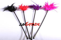Wholesale bdsm fun flirting feather tickler for couples sex game Sexy Feather whip Sexy chicken feather tickler feather decoration