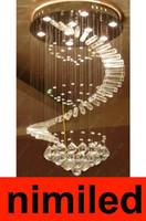 nimi269 D40 / 50/60/70 / 80см K9 хрустальная люстра Гостиная Вращающийся Droplight LED Креативность Дуплекс Лестница подвеска лампа освещения