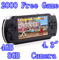 4.3 inch No 4GB 4GB 8GB 4.3inch Handheld Game Player MP4 MP5 Game Player With Camera+TV out+FM+more than 2500 games FREE Shipping 1pc