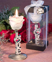 Wholesale New Design rose on love letter candle holder Festival decorations Wedding Paty favors