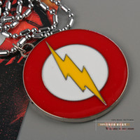 Wholesale 1pcs Marvel Super Hero The Flash Necklace Metal Pendant Men Jewelry ANPD1130 Christmas