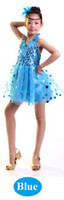 Latin indian clothes - Child indian costume girl children kids belly dance clothes performance wear stage clothing party tutu Latest tulle dress