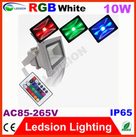 10W LED IP65 2pcs lot led floodlight 10W RGB White wall light fixture outdoor Square Garden street Landscape Lamps stainless steel IP65 AC85-265V
