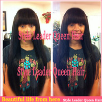 Straight Wig,Half Wig Human Hair Cheap and high quality straight with bangs hair natural balck 10-24inch brazilian lace human front wig with baby hair