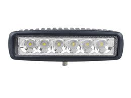 6'' 18W LED Light Bar 12V 24V Flood Spot 4X4 Car Truck ATV Offroad LED Bar DRL IP67 Waterproof SUV Jeep LED Off-road Driving Lamp