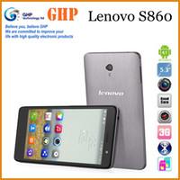 Wholesale Original lenovo S860 inch IPS HD Screen Lenovo S860 G MTK6582 Quad Core G Ram G Rom mAh MP GPS WCDMA Flip cover