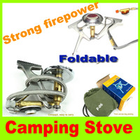Wholesale 2014 new F Strong firepower stove Folding Camping Picnic Cooker Stove lightweight shape aluminum alloy Stove W high quality L