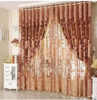 Wholesale 2014 High Quality Cutout Carved Embroidered Yarn Curtain Finished Product modern living room window curtains