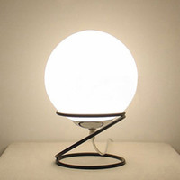 E27 bedside shelf - Modern Classic Shelf Glass Ball Table Lamps Living Room Bedroom Room Glass Desk Lights Bedside Table Lamps