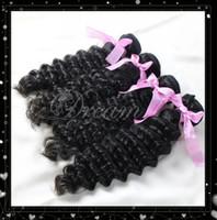 Brazilian Hair Deep Wave 8-30 Summer sale! 8-30inch Queen 100% Brazilian Virgin Hair Weave 3 bundles Deep Wave Hair Weft