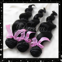 Wholesale Queen Hair Products AAAAA Malaysian Virgin Human Hair Unprocessed Loose Wave Hair Extensions Natural Black Can be dyed